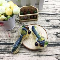 Tubo de vidro colorido Fumar Pipe Curvo Mini 6 polegadas Tubos de Fumo Mão Blown Melhor Queimador de Óleo