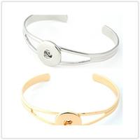 Новый дизайн имбирь Оснастки серебряный золотой браслет Оснастки кнопки Нуса куски браслеты для женщин подходят 18 мм Оснастки Шарм ювелирные изделия