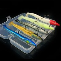 5pcs 1box 11cm 22g Lead Head Fish Silicone Lures Fishing Lur...