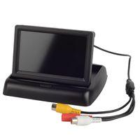 "HD 4.3 ""TFT LCD Fold Car Reverse Vista trasera del monitor para DVD cámara M00027"
