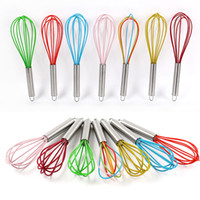 "10 ""SILICONE COATED EGG WHISK EGGBEATER ACERO INOXIDABLE MANILLA COCINA GADGET"