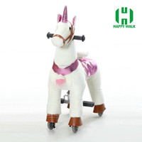 HI CE Outdoor playground toy horse on wheels , mechanical wa...