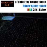 Ab Werk Preis 60cmx60cm Led Digital Tanzfläche RGB 3IN1 6X6 Dot Pixel Acryl Platte Weiß / Schwarz Tanzfläche 6mm Dick