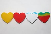 FDA Onaylı Kalp Şekli Yapışmaz Silikon Kavanoz DAB Balmumu Konteyner Rasta Silikon Balmumu Konteyner Yağ için