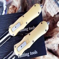 2016 Newer mi B14 57HRC yellow handle Zinc Alloy Hunting Folding Pocket Knife Survival Knife Xmas gift 1pcs freeshipping
