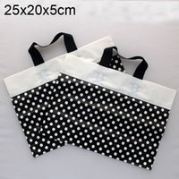 Black Polka dot Plastic gift bags, plastic shopping bag 25x20...