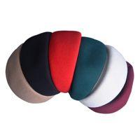 Puro colore Cocktail Fascinator Base Air Hostess di lana Pillbox Cappello artigianale di modisteria fai da te Rope A137