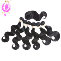 Doheroine Remy Human Hair 6 Wave With Closure Human Hair Bun...