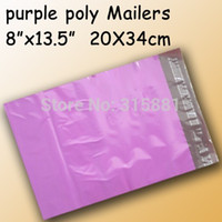 "Purple poly mailer poly bag  poly envelope 8"" x13. 5&quot..."