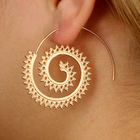 Silver Gold Color Geometric Swirl drop Earring For Women New...