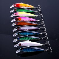 10Pcs 10.7Cm Floating Minnow Fishing Lure Laser Isca Искусственные приманки 3D Глаза Pesca Crankbait Minnows Рыбалка Воблеры