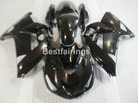 Ajuste 100% para moldes de inyección Kawasaki Ninja ZX14R 06 07 08 09 10 11 juego de carenados negro brillante ZZR1400 2006-2011 OP08