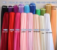 نسيج الحرير الزفاف خلفية العرض 150 سنتيمتر / 59 بوصة الحرير النسيج الديكور بلون القماش / أقمشة الملابس أداء الملابس بطانة WT017