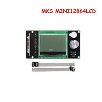 Freeshipping أجزاء الطابعة 3D Reprap LCD MKS MINI12864LCD تحكم العرض للحصول على لوحة 2560 ميجا