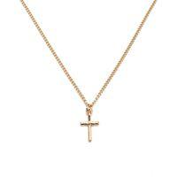 2017 mode bijoux schmuck gold silber kreuz anhänger legierung metall dünne kette choker halskette für frauen mädchen als geschenk fe