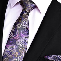 Männer Kleid Paisley High Density Neck Tie Breite 8 CM Tie Pocket Chief Set