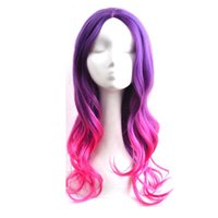 Gamora Wig Women Long Wavy Hair Purple Rose Red Mix Heat Res...