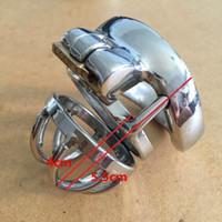 Новый дизайн 5.5CM Длина нержавеющей стали Мужской Целомудрие Клетка Устройство Small Co Ca SM Секс-игрушка для мужчин Пояс верности