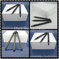Wholesale- 50pcs Round 1 Black Disposable Long Tattoo Tips No...