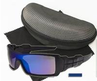 Verão nova marca homens revestindo óculos de sol + caixa de pano de condução óculos de sol mulheres ao ar livre sports eye wear oculos de vidro da bicicleta 9 colours navio livre