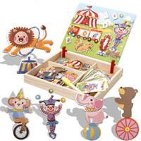 Wooden Multifunction Children Animal Puzzle Writing Magnetic...