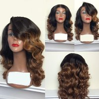 Body Wave Ombre Human Hair Wig Bleached Knots Glueless Full ...