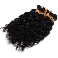 مل 3pcs لوط العذراء غير المجهزة الشعر البرازيلي موجة الشعر الطبيعي الجملة تشابك اللون الطبيعي مجانا