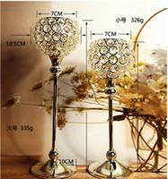 Кристалл подсвечник металл серебряный подсвечник фонарь votice свеча стенд канделябры центральные свадебные украшения mariage