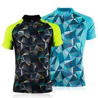 erkekler / Bayanlar masa tenisi elbise yaz spor spor tişört ücretsiz kargo hızlı nem emme için yeni Astar masa tenisi gömlek
