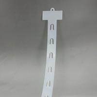 L73.5cm Plastik PP Perakende Asılı Mal Klipler Şeritler W3.5cm Ürünleri Ekran Süpermarket Mağaza Promosyon Için 60 adet