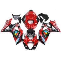 5 бесплатных подарков Новый ABS мотоцикл обтекатель комплекты 100% подходит для SUZUKI GSXR1000 K7 2007-2008 GSXR 1000 K7 07-08 черный и красный артикул нет.237
