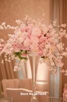 Decoración de la etapa de la boda partido mental piso de la boda pasarela pasillo del pilar soporte para la boda