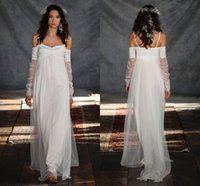 Bohemia Greek beach Wedding Dresses Greek Style A- Line Spagh...
