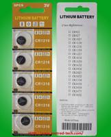 células de um lote de 400 carteiras de comprimidos pilhas de botão de lítio CR2450 3.0V + 260cards LR44 AG13 botão = + 40cards células botão CR1216 lítio