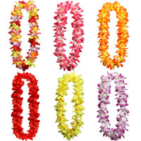 Leis hawaiano Fiore di seta Party Favor ghirlande artificiale Ghirlanda Ghirlanda Cheerleading Collana Decorazione