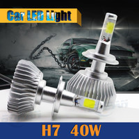 1 Pair H7 40W LED Light 4000LM White Car Replacement Headlig...