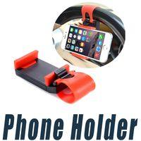 Рулевого Колеса автомобиля Держатель Телефона Клип Автомобильный Велосипед Крепление Стенд Кронштейн Универсальный Для iPhone 6 6 S Plus 5 Сотовый Телефон GPS