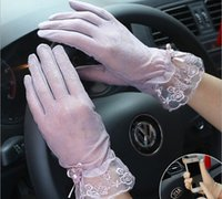 Spring and summer women' s Lace sunscreen gloves lady&#0...