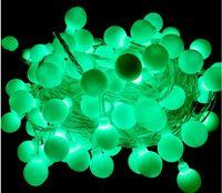 Impermeabilice la luz LED 10M 100led ball AC220V, iluminación al aire libre de la decoración AC110V para el partido del festival de la Navidad