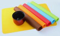 100 TEILE / LOS, Silikon Backmatte Antihaft Pan Liner Tischset Tischschutz für 6 Farbe