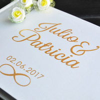 Personalized Guest Book Gold Calligraphy Alternative Guestbo...