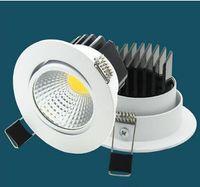 Zhiyuan cob Dimmable LED Downlights LED luzes de teto embutidas 5W / 7W / 9W / 12W LED decoração lâmpada de teto AC85-265V CE ROHS