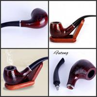 Tuyau de Tabac Sculpté Rétro En Bois Enchase Cigarette Tuyaux Cigar Filtre Durable Cadeaux Collectibles De Haute Qualité
