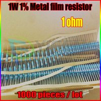 Wholesale- NEW 1000pcs 1 ohm 1W 1 R Metal Film Resistor 1 Oh...