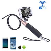 2017 neue Handheld Wifi Selfie Endoskop Kamera 8mm Objektiv 6 LEDs Wasserdichte IOS / Android Endoskop Inspektion Endoskop Kamera