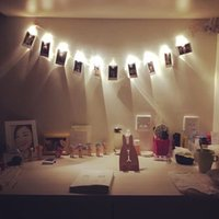 Mini LED DIY Photo Clip String Christmas lights new year par...