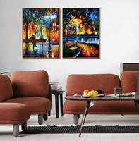 Modernes Haus Einfache Dekorative Kunst Licht und Schatten Serie Leinwand Hohe qualität reine handgemalte palette dicken öl messer malerei JL449