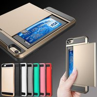 Hybrid Armor TPU PC Shockproof Wallet Case Slide Card Pocket...