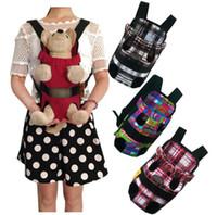 Sac de transporteur d'animal familier bande colorée motif animaux chiens jambes devant sac à dos de voyage transporteur sacs