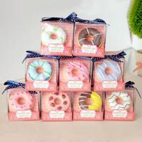 10 colori / aroma ciambella cerchio bella cupcake regalo trucco balsamo per le labbra gloss idratante nutriente rossetto cosmetico spedizione gratuita ZA2453